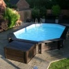 Outdoor Wooden Swimming Pool
